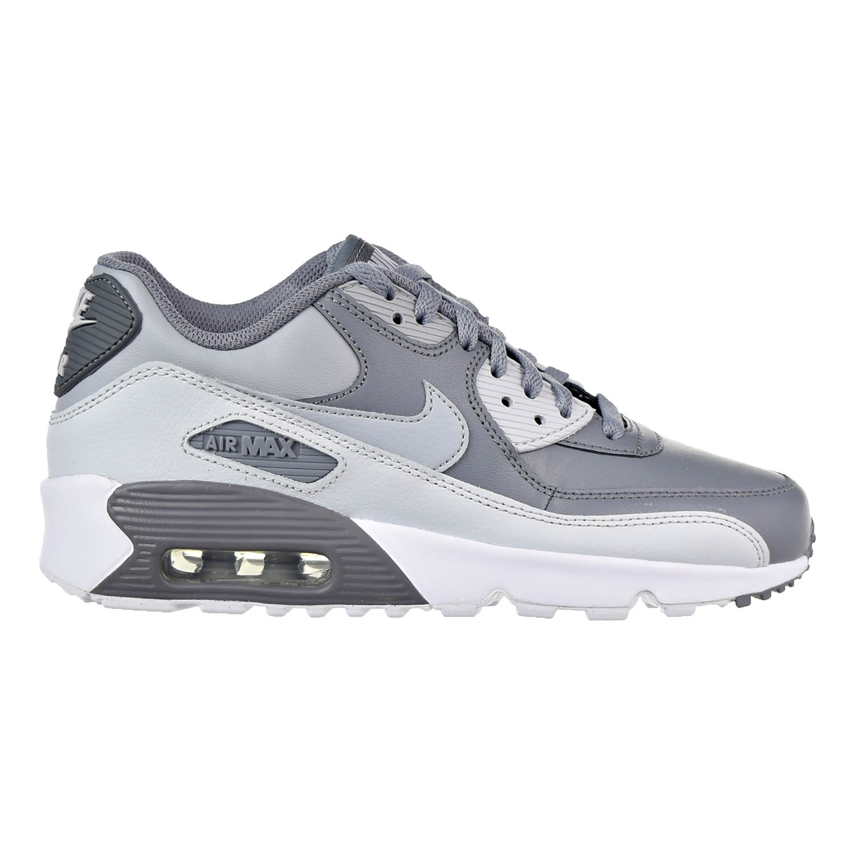 new arrival cf15b 07bd7 ... spain nike boys air max 90 leather gs shoe cool grey wolf grey 67e51  522b4