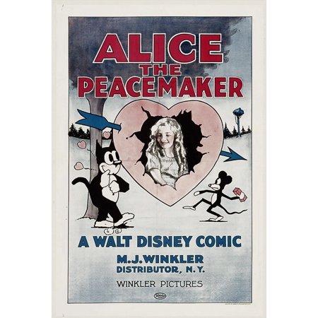Alice The Peacemaker Center: Virginia Davis 1924. Movie Poster Masterprint - Item # VAREVCMMDALTHEC015H ()