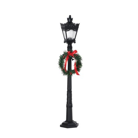 Christmas indoor electric street lamp post light square wreath bow christmas indoor electric street lamp post light square wreath bow light decor aloadofball Images