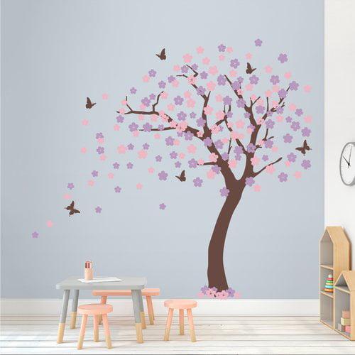 Wallums Wall Decor Cherry Blossom Tree Wall Decal