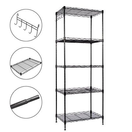 GZYF 47 Inch Heavy Duty Wire Shelving Rack 5 Tier Layer