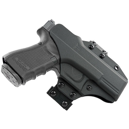 Blade Tech Industries Total Eclipse Holster with Inside-The-Waistband and Outside-The-Waistband Conversion Kits, Fits Glock 19/23/32, Ambidextrous, Black