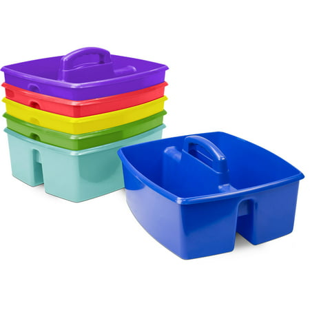 Storex 6 pack Classroom Art and Supplies Large Caddy, multiple color options - Art Boxes