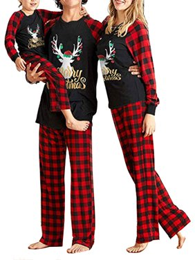 Sexy Dance Family Christmas Pajamas Matching Sets Long Sleeve Tops+Pants Matching Christmas PJs for Adults Women Men Kids Boys Pajamas Boys Girls Santa Deer Tree Jammies Children PJs Gift Set