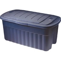 Rubbermaid Roughneck RMRT1400001 Jumbo Storage Box, 40 gal Capacity, Polyethylene, Dark Indigo