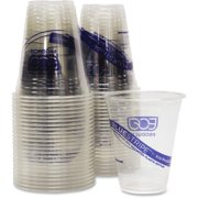 Eco-products Bluestripe Cold Drink Cups - 12 Oz - Plastic, Polyethylene Terephthalate [pet] - Crystal Clear (cr12ct)