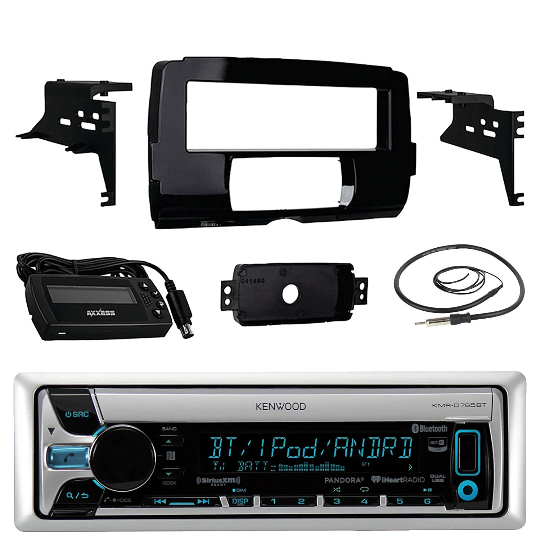 Audio Bundle For 2014 and Up Harley - Kenwood KMR-D765BT ...