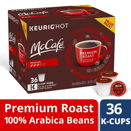 McCafe Premium Roast Medium Coffee K-Cup Pods, Caffeinated, 36 ct - 12.4 oz - Caffeinated Coffee