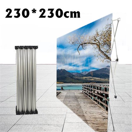 7.54X7.54ft PopUp Display Stand Aluminum Trade Show Exhibit Backdrop Booth Frame Wedding Party Backdrop Banner Show Decor (ONLY (Best Trade Show Banners)