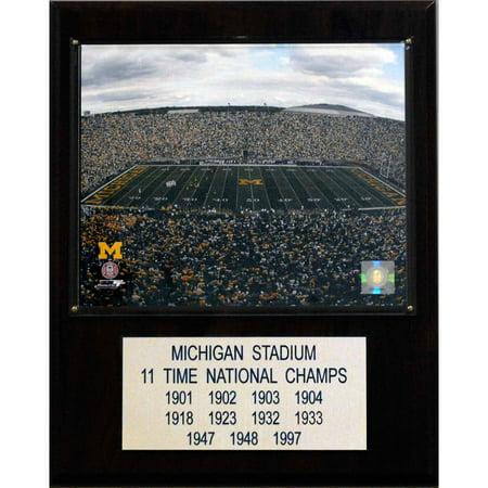 C&I Collectables NCAA Football 12x15 Michigan Stadium Stadium Plaque