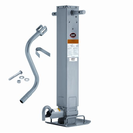 """Square Trailer Jack 1400980376 Weld-On Square Tube Sidewind 12.5"""" Travel"""