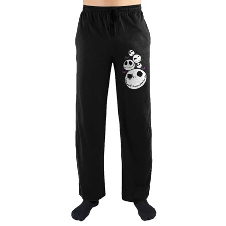 The Nightmare Before Christmas Jack Skellington Print Men's Lounge Pants - Nightmare Before Christmas Adult Onesie