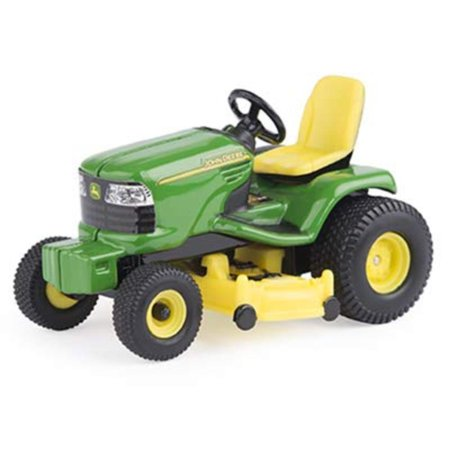 Lawn Tractor 1/32 Scale, Green, Yellow, Die-cast chassis. By John Deere