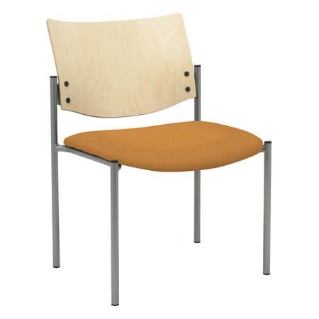 Aspen Wood (KFI Evolve Guest Chair, Armless with Natural Wood Back, Aspen Fabric )