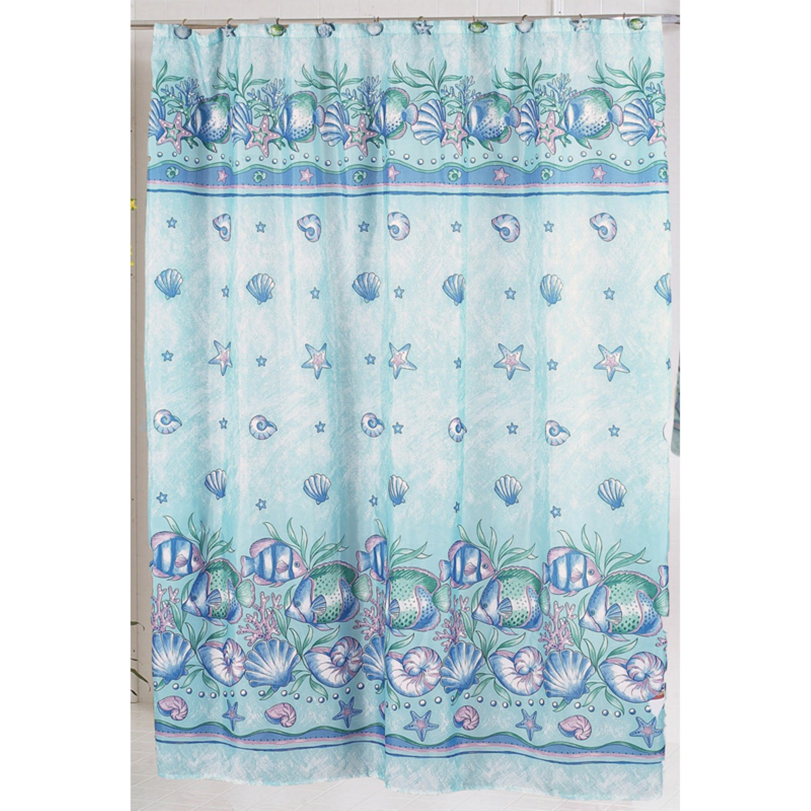 "Click here to buy ""Oceanic"" Fabric Shower Curtain by Carnation Home Fashions."