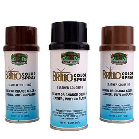 JWONG Moneysworth & Best Brillo Color Spray Leather Coloring 017 WHITE 4.5 (Best Spray Paint For Leather Shoes)