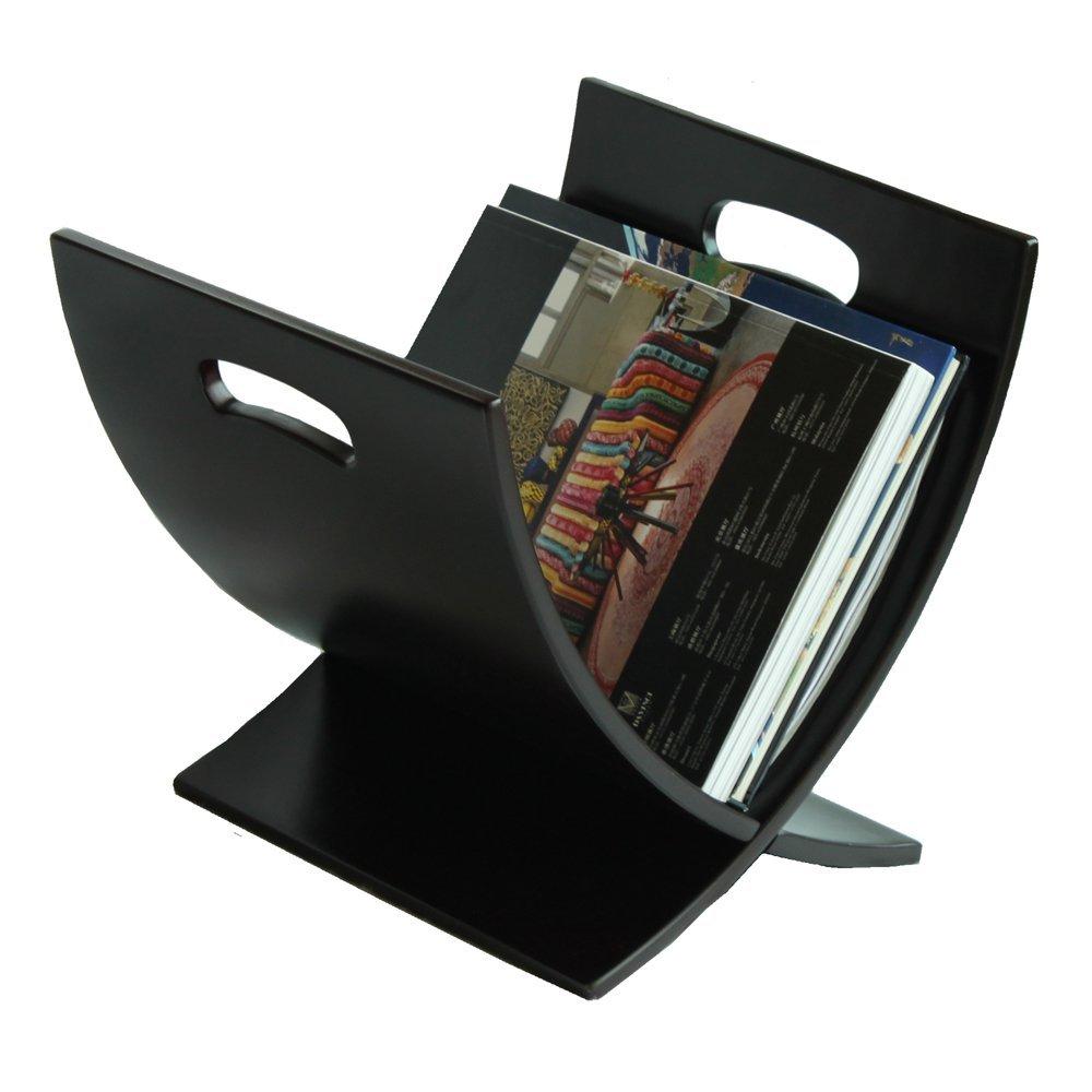 Oceanstar M1170 Contemporary Wooden Magazine Rack, Espresso by