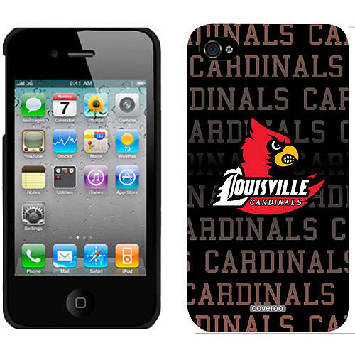 University of Louisville Cardinals Repeat Design on iPhone 4S/4 ThinShield Snap-On Case by Coveroo