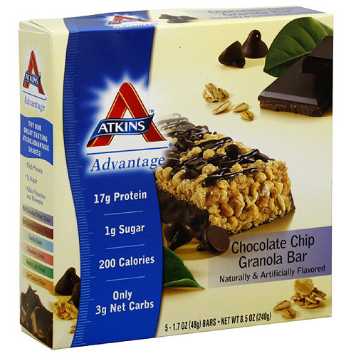 Atkins Advantage Chocolate Chip Granola Bars, 5ct (Pack of 6)