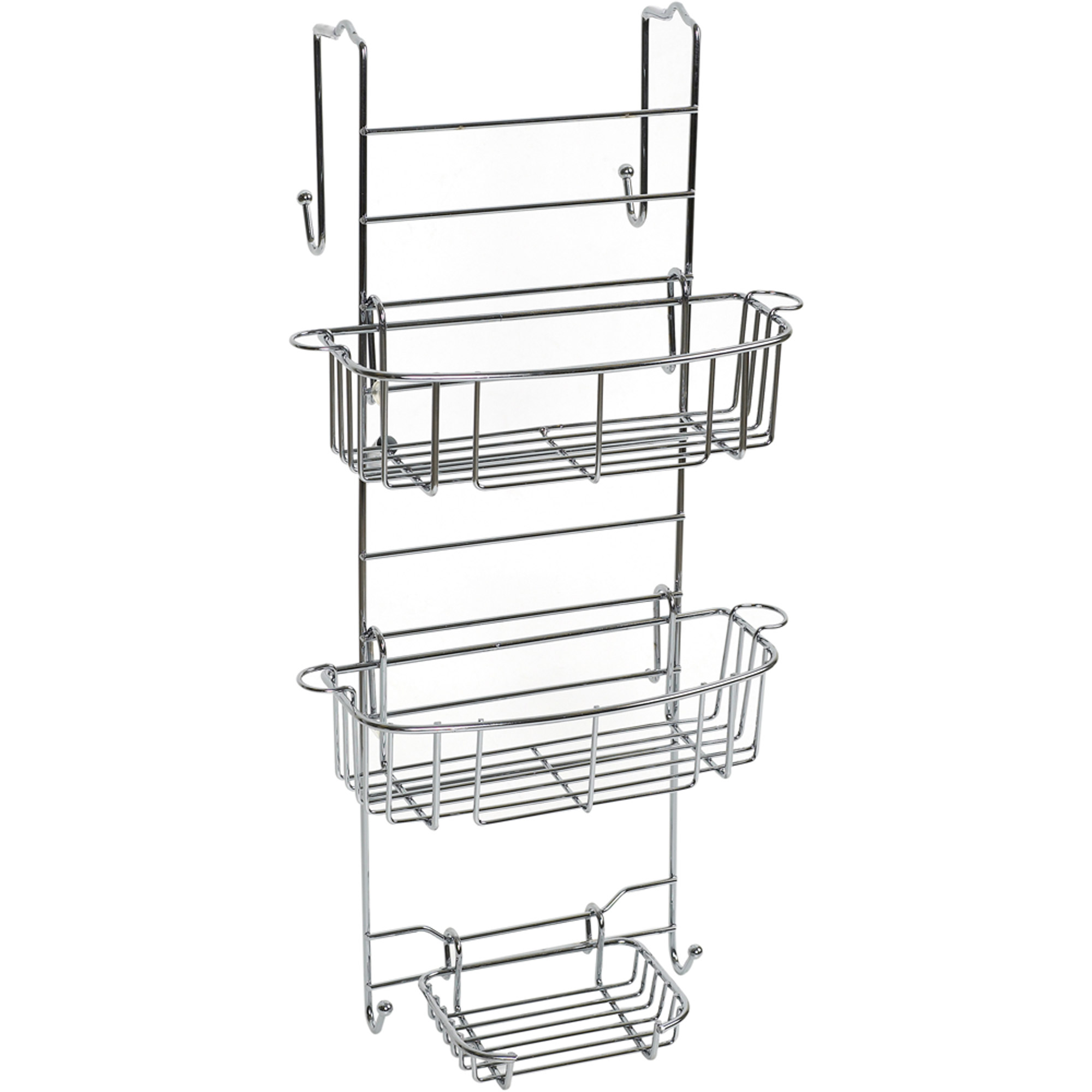 Zenna Home Over the Shower Door Caddy, Chrome