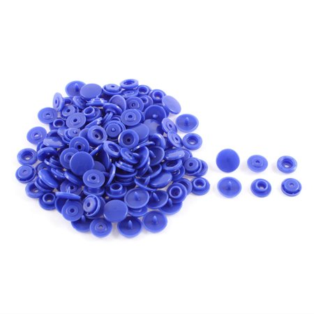 Home Dark Blue Sewing Poppers Snap Clothing Craft Press Fastener Buttons 50 Pieces