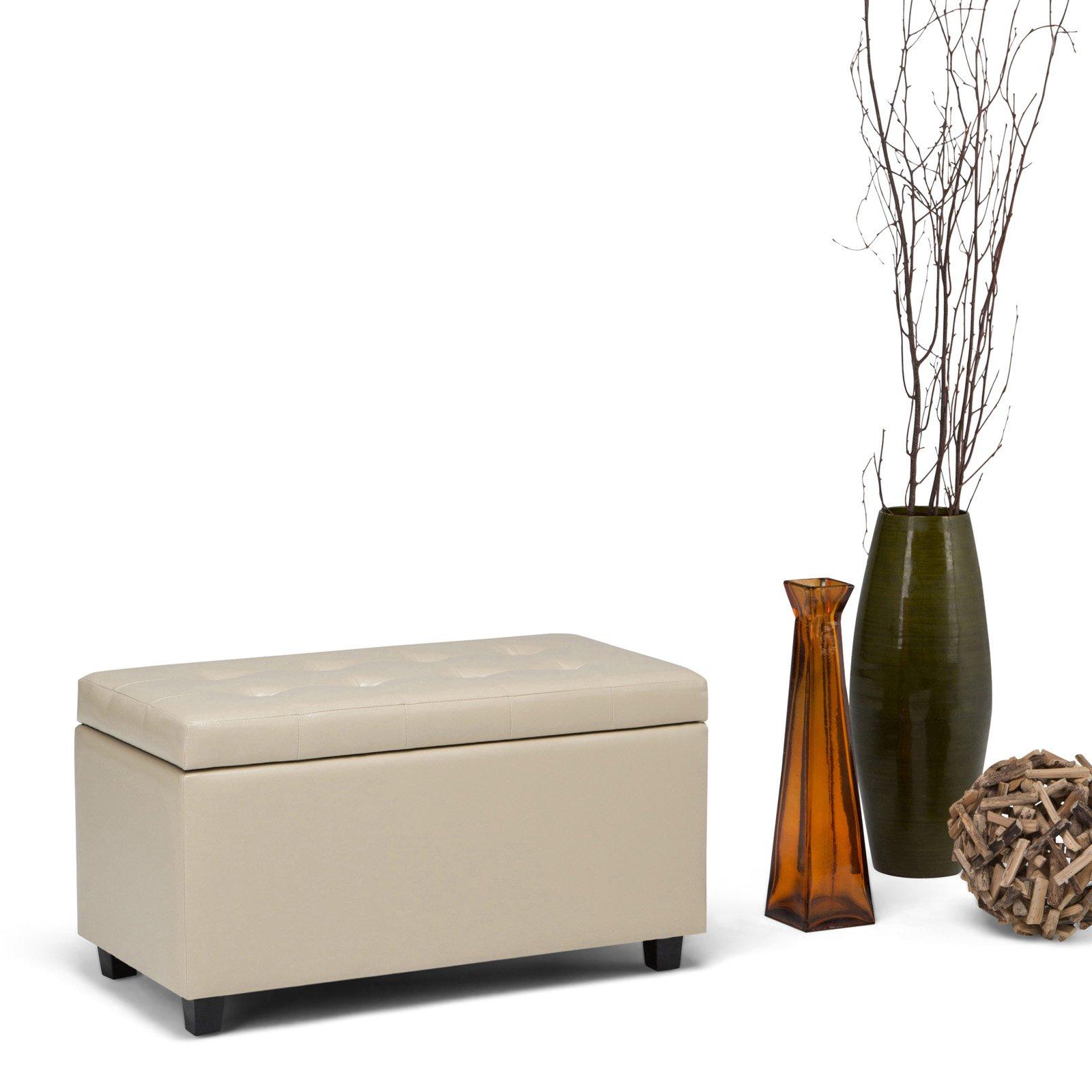 Simpli Home Cosmopolitan Medium Storage Ottoman Bench