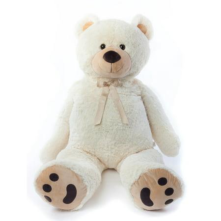 JOON Jumbo Teddy Bear, 5 Feet Tall, Cream