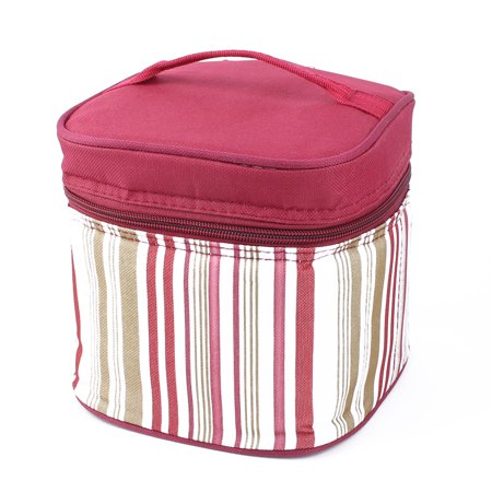 Outdoor Stripes Design Lunch Box Cooler Storage Picnic Bag Tote Pouch -