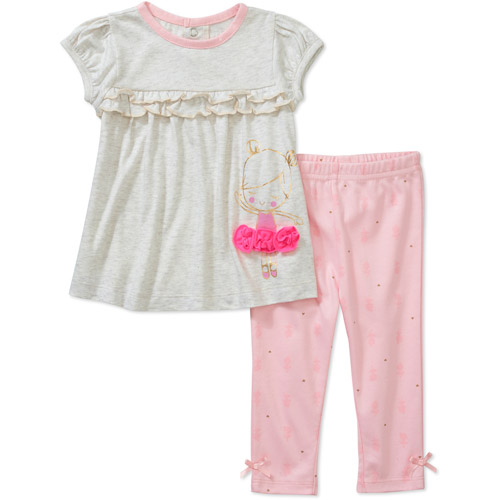 Child of Mine by Carters Newborn Girls' 2 Piece Dancer Tee and Legging Set
