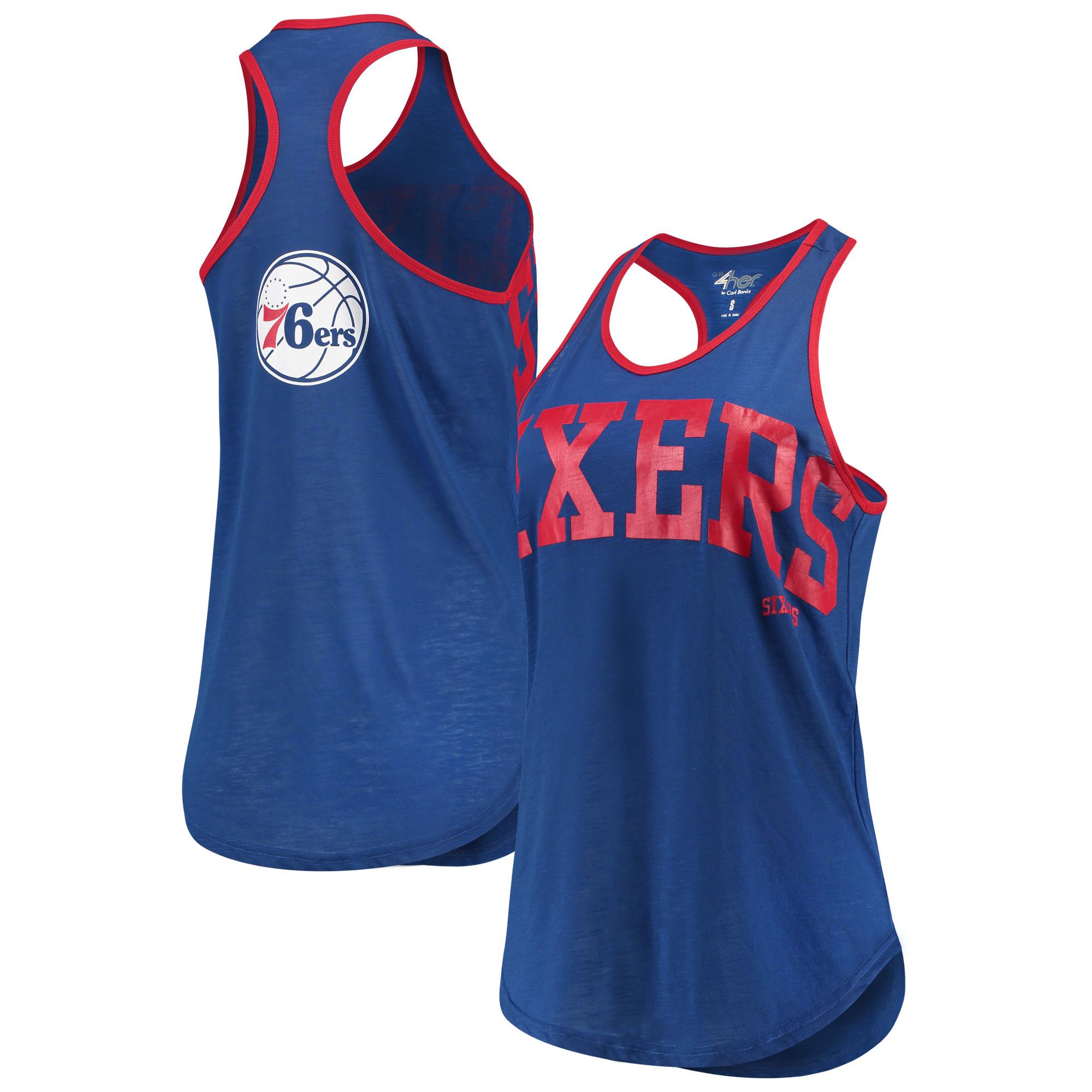 Philadelphia 76ers G-III 4Her by Carl Banks Women's Game Time Tank Top - Royal