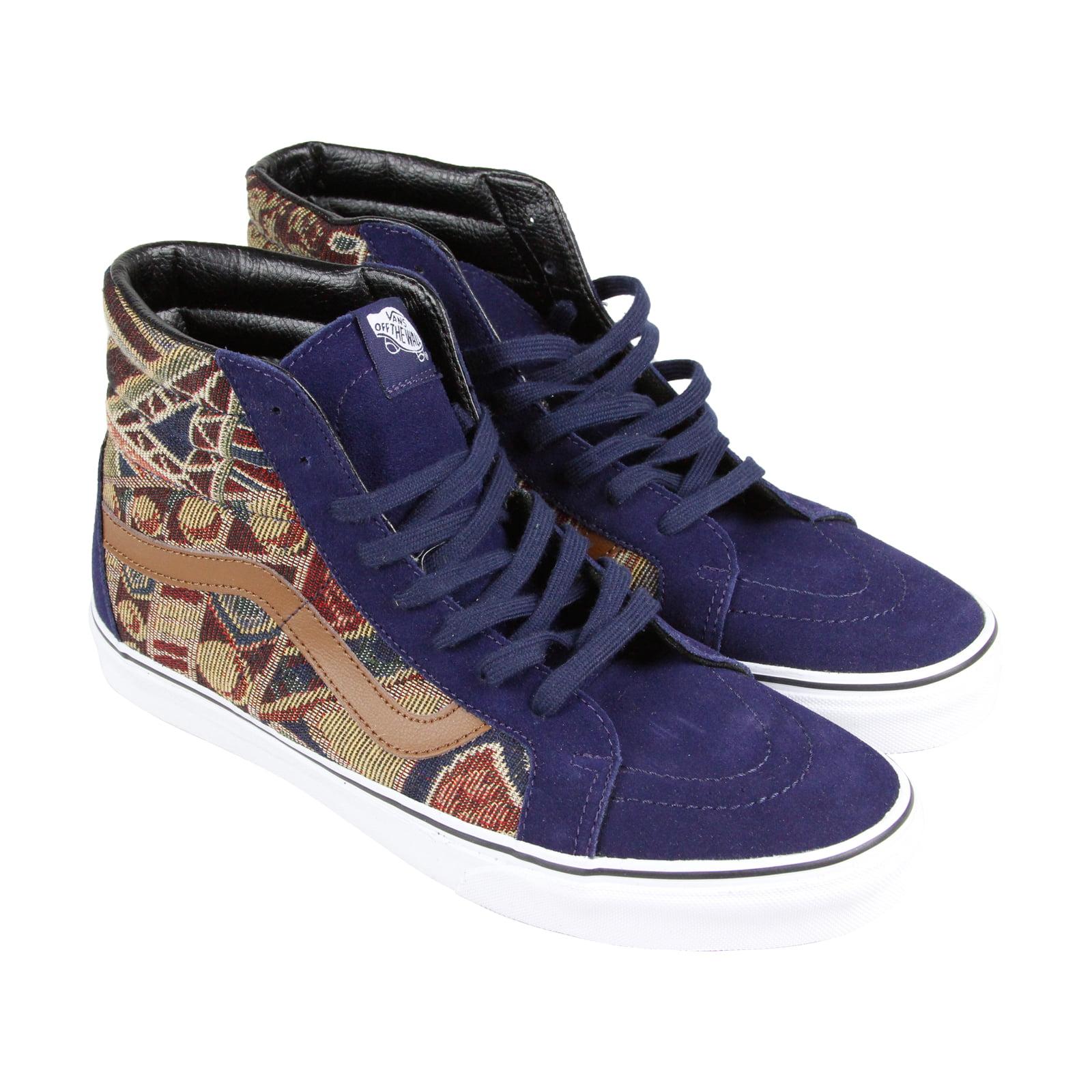 Vans Sk8 Hi Reissue Mens Purple Suede & Canvas High Top Lace Up Sneakers Shoes