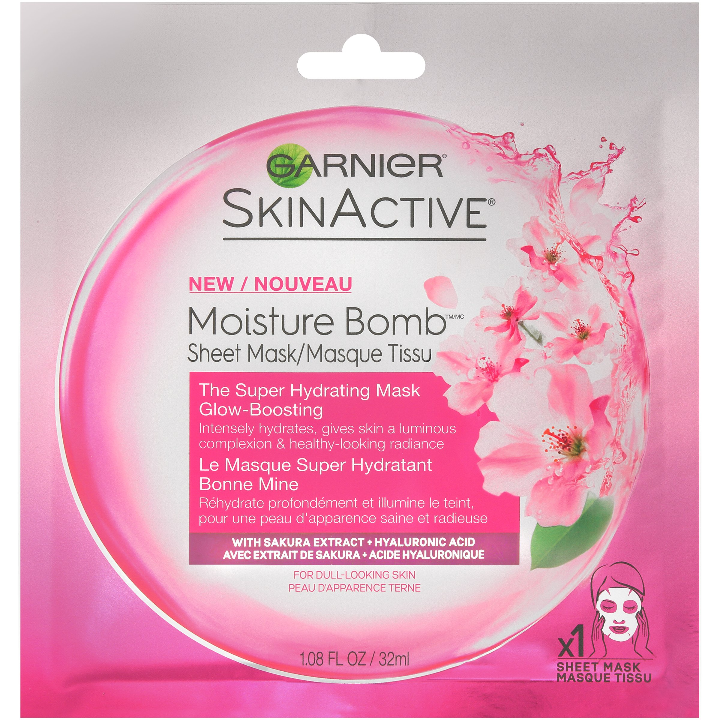 Garnier SkinActive Moisture Bomb The Super Hydrating Glow-Boosting Sheet Mask 1.08 fl. oz. Pack