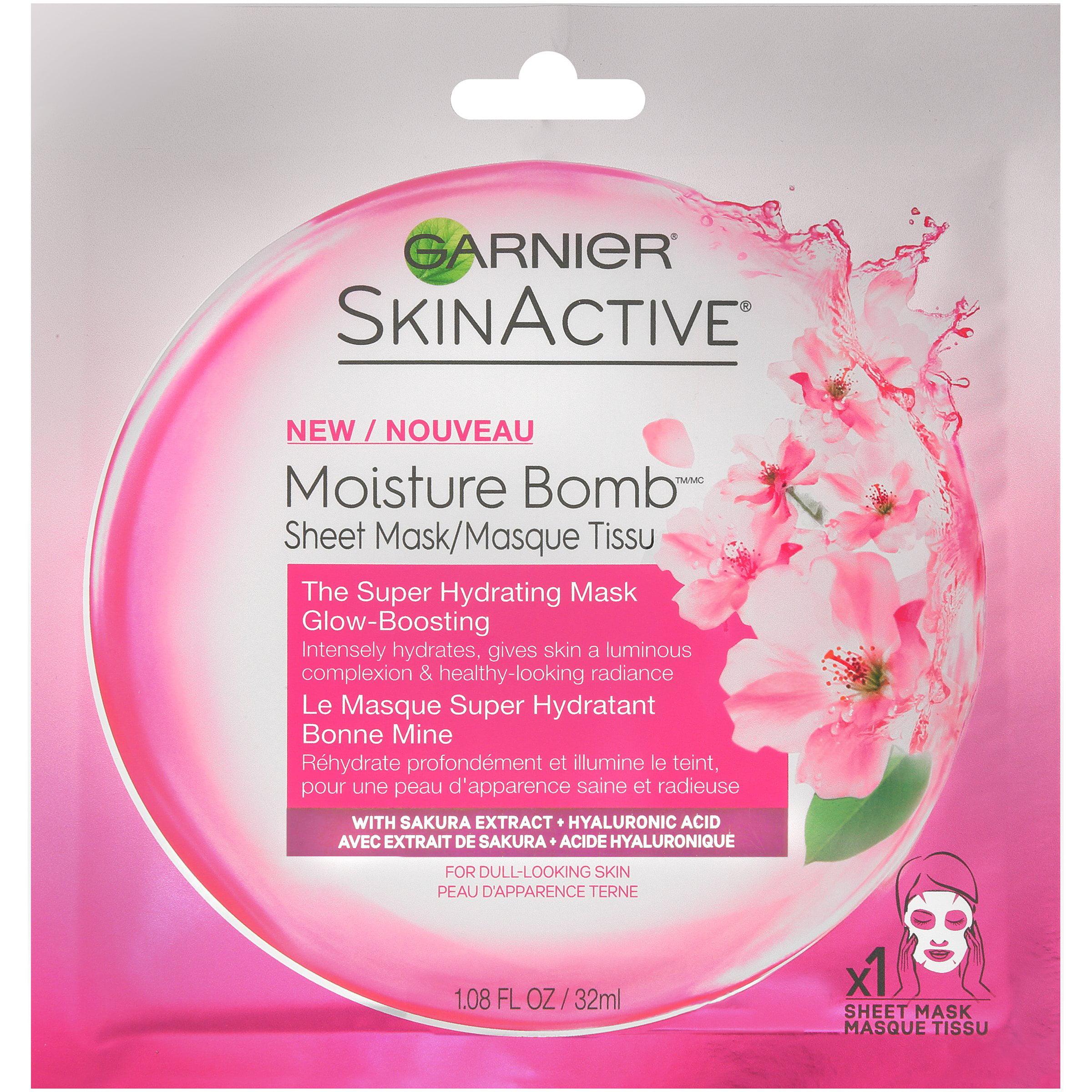 Garnier SkinActive Moisture Bomb The Super Hydrating Glow-Boosting Sheet Mask 1.08 fl. oz. Pack