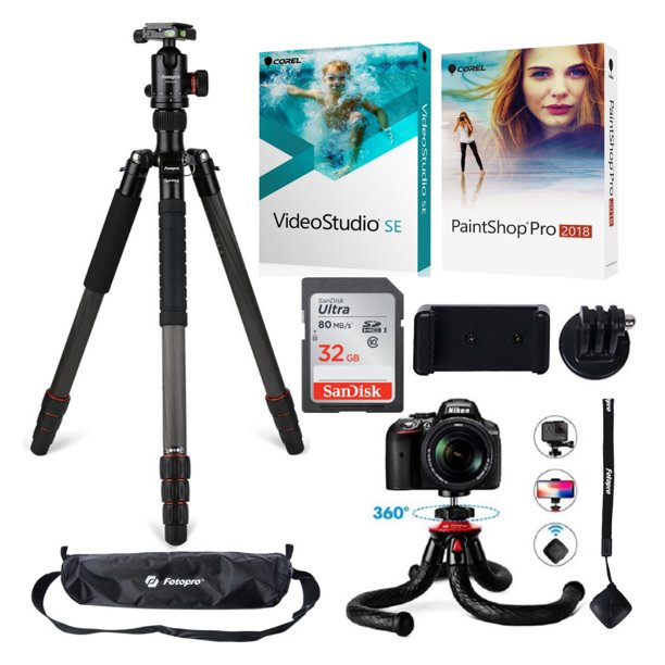 Fotopro X-Go Max Tripod Kit (Black) with UFO2 Tripod and Software Bundle