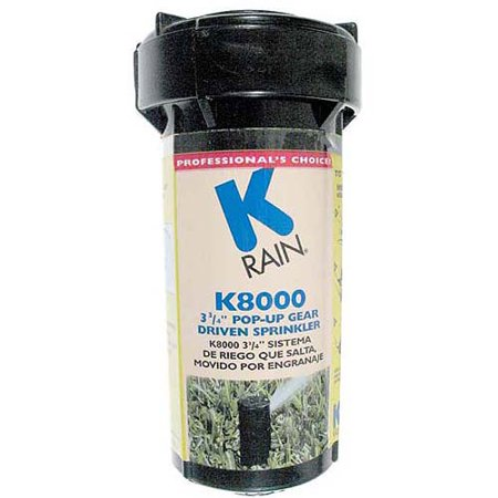 K Rain 81031 K8000 3-3/4 in Pop-Up Gear Drive Sprinkler