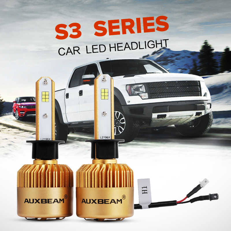 Auxbeam 2pcs Set S3 Series H1 Led Headlight Vehicle Conversion