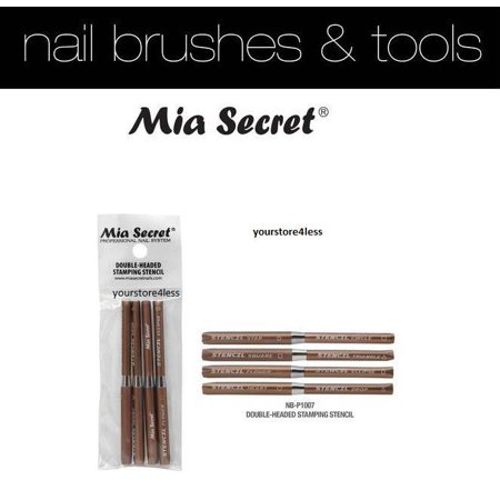 Mia Secret 4 piece Double Headed Stamping Stencil New Arrival !+ Free Temporary Body Tatoo!