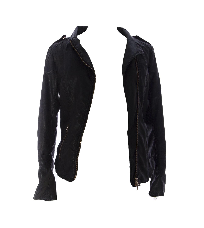 MOM2MOM Maternity Women's Faux Leather Jacket, EU 36, Black by 11110