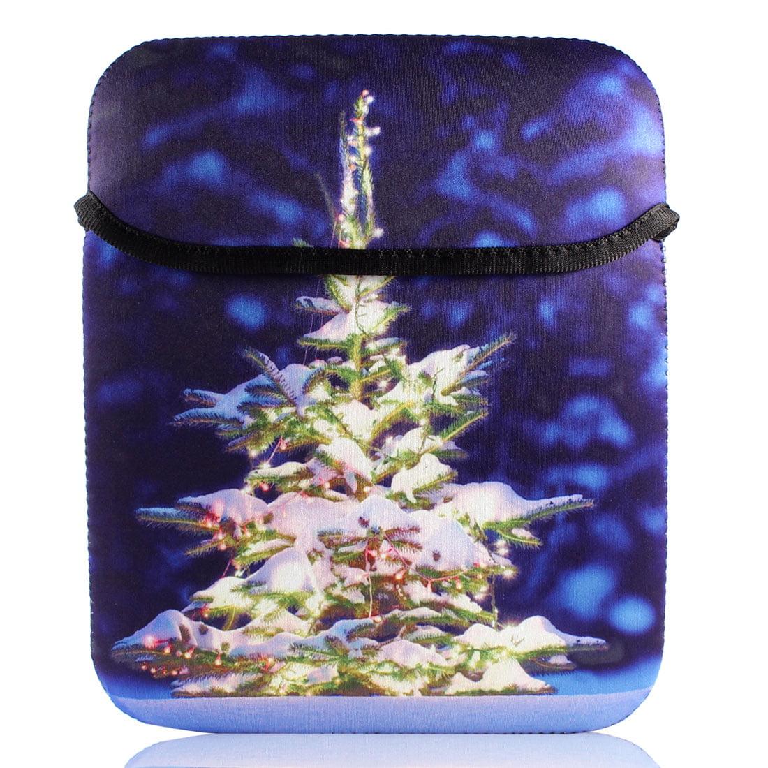 "10"" 13"" 15"" 17"" Royal Blue Christmas Tree Print Laptop Shoulder Bag Sleeve Case"