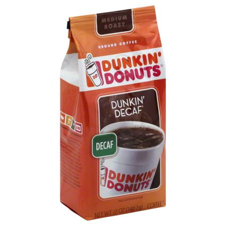 (2 Pack) Dunkin' Donuts Dunkin' Decaf Decaffeinated Ground Coffee, 12 oz ()