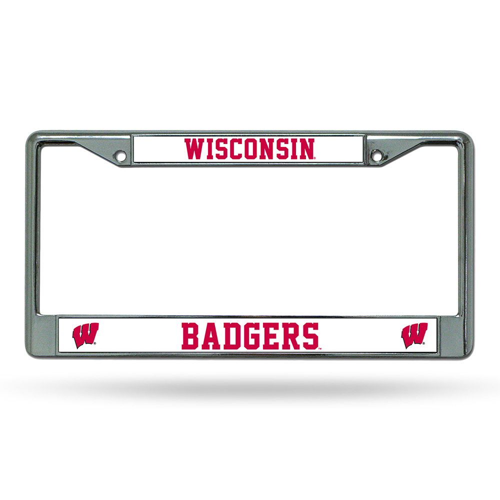 Wisconsin Badgers NCAA Chrome License Plate Frame