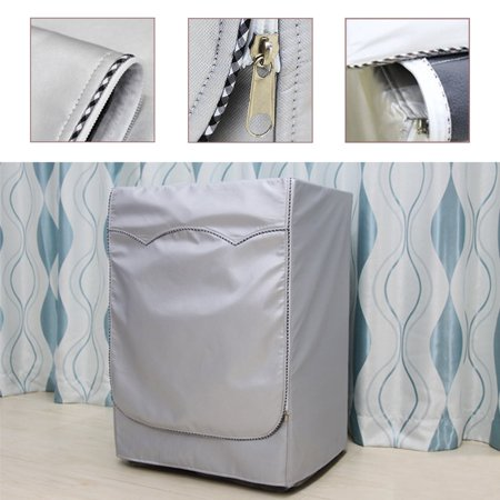 Moaere Washing Machine Cover Waterproof Dustproof Sunscreen Washer Dryer Protector Thicker Fabric Zipper Design for Easy use ()