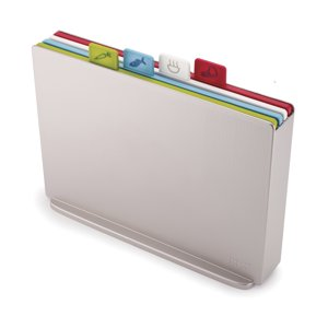 Joseph Joseph Silver Large Index Colord Coded Cutting Board Set