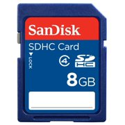 SanDisk 8GB SDHC Flash Memory Card - C4, SD Card - SDSDB-008G-A35