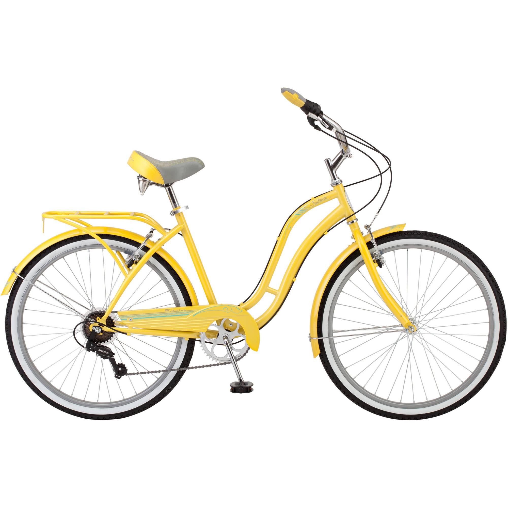26 Schwinn Fairhaven Women S 7 Speed Cruiser Bike Cream