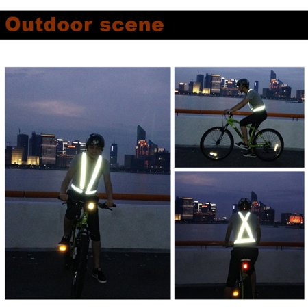 LESHP Traffic Night Work Security Running Cycling Safety Reflective Vest Jacket - image 7 de 12