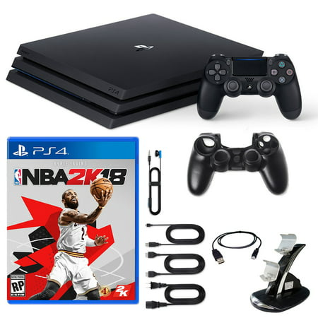PlayStation 4 Pro Console NBA2K18 and Accessories