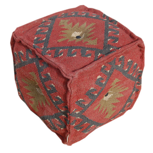 Divine Designs Wool Pouf