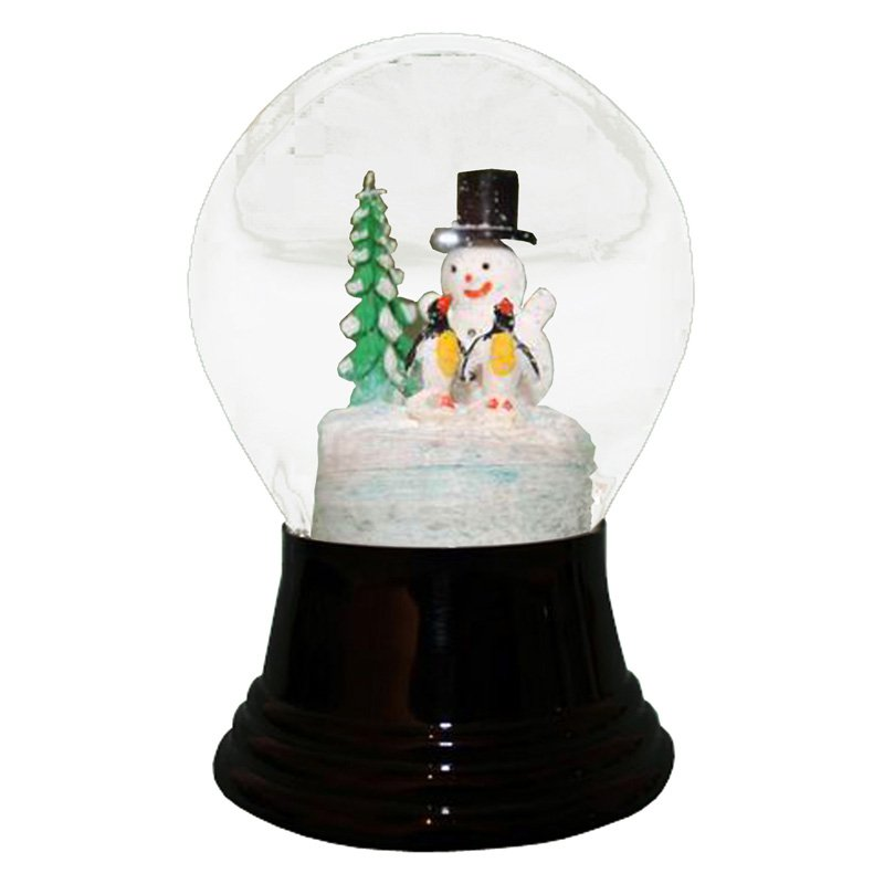Perzy Snowman and Penguins Snow Globe