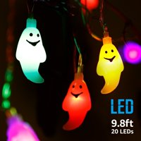 TORCHSTAR 9.8ft 20 LEDs Halloween Decorations Lights, Outdoor String Lights, Christmas Lights, Multicolor